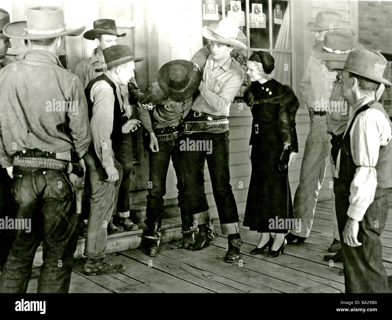 e51a43ea61cc6 THE STAR PACKER 1934 Monogram Lone Star film with John Wayne in white  stetson