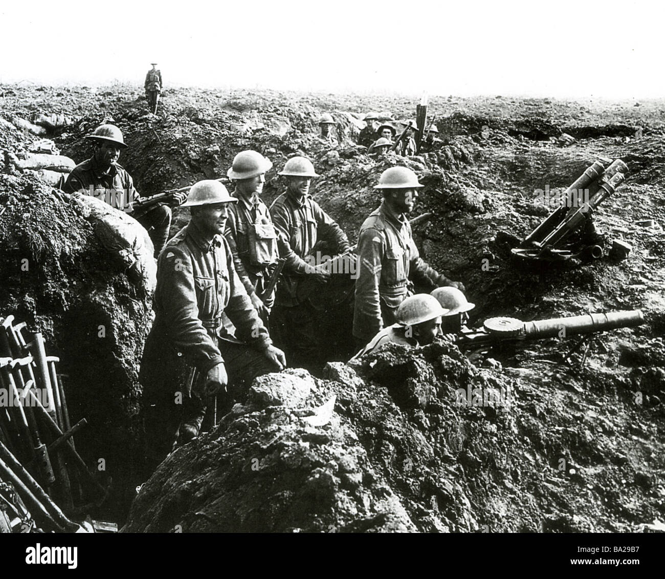 BRITISH TROOPS in France in WWI - Stock Image