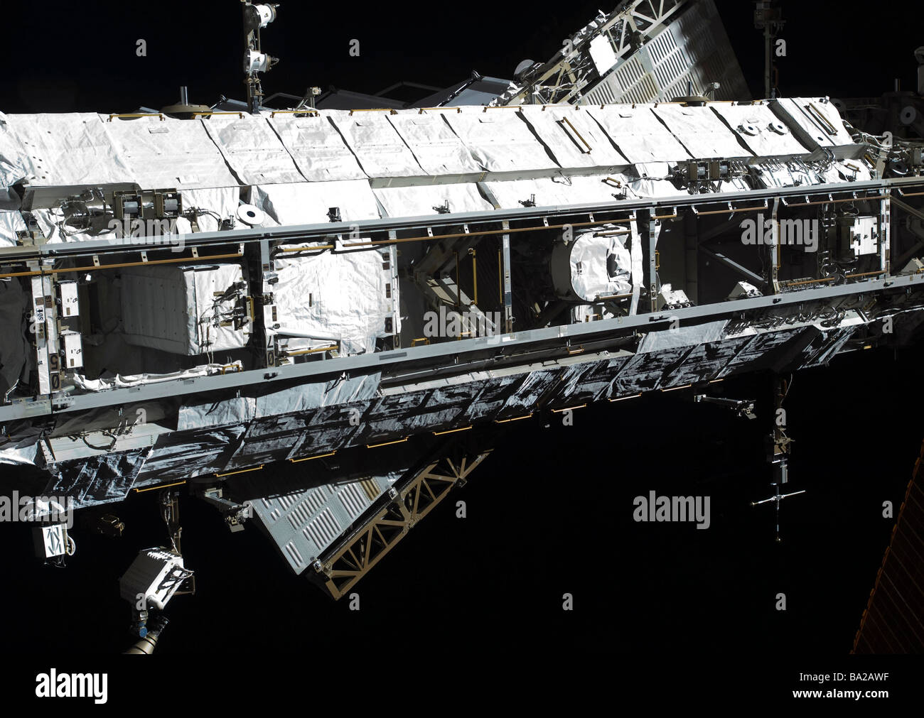 The International Space Station's starboard truss. - Stock Image