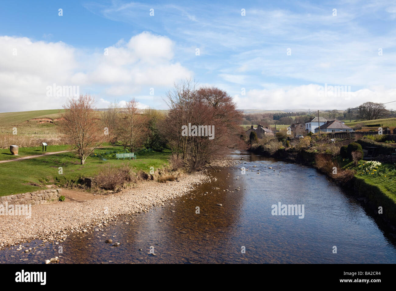 Kirkby Stephen, Upper Eden Valley, Cumbria, England, UK, Europe. View along the Eden River in North Pennines - Stock Image