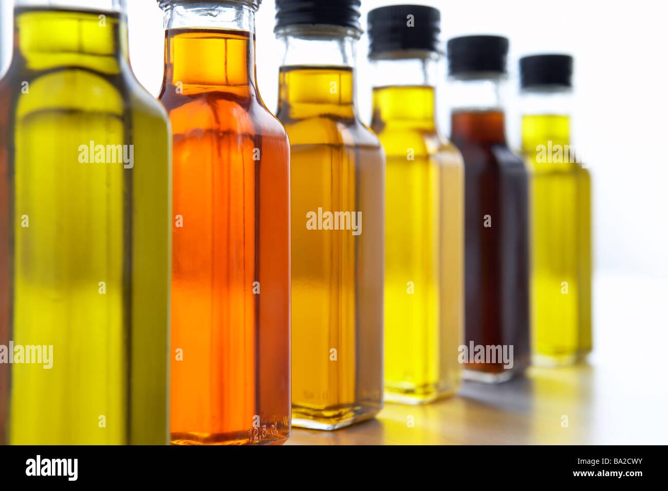 Bottles Of Olive Oil - Stock Image