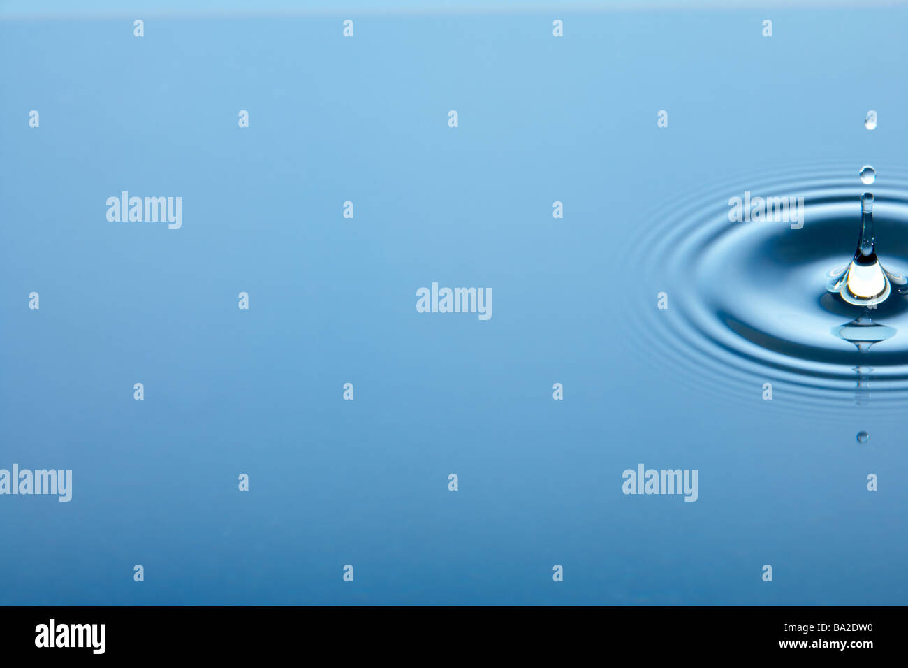 Concentric Circles Forming In Still Water - Stock Image