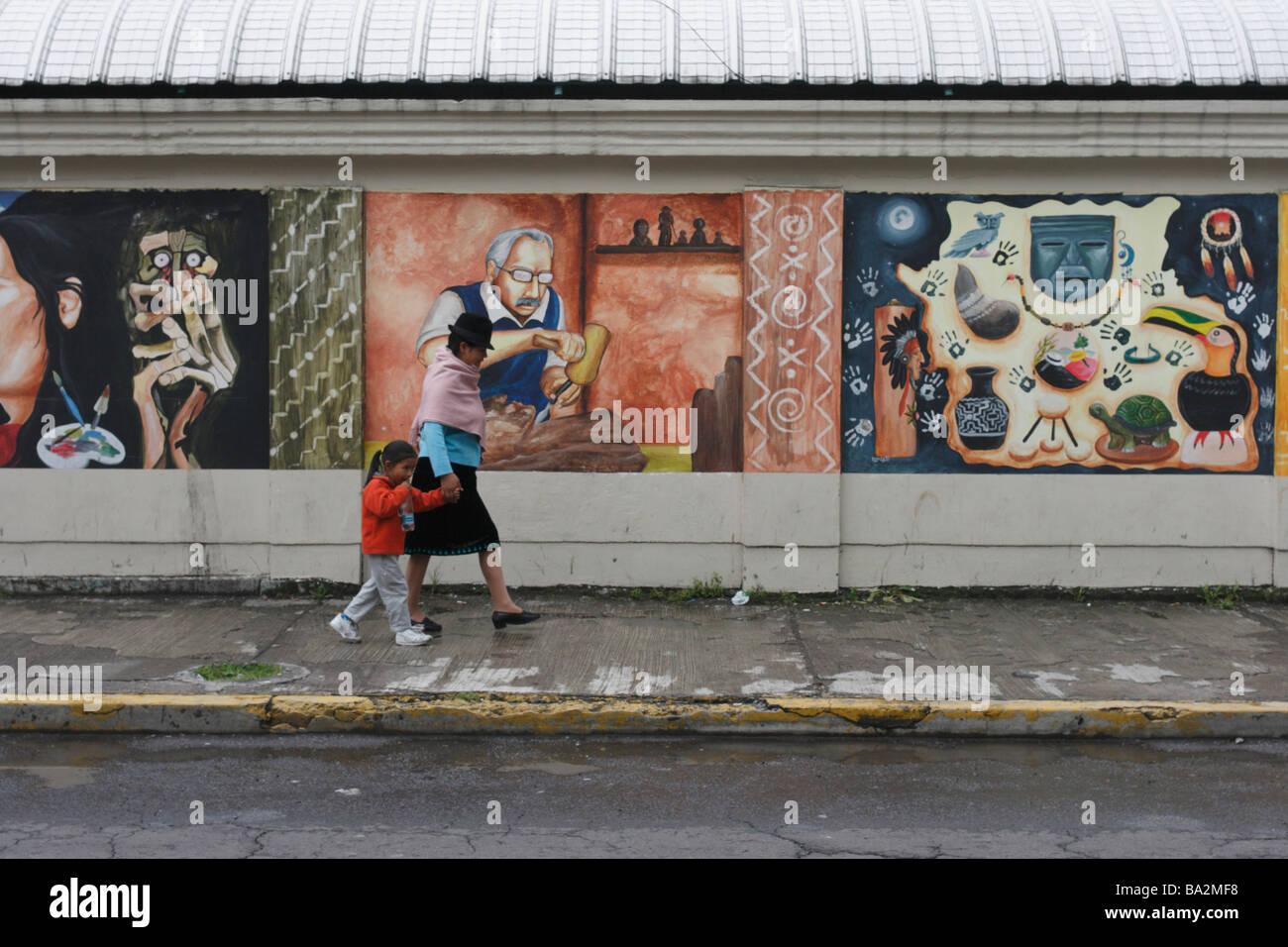 Mercado Artesanal La Mariscal, Quito New City, Ecuador. - Stock Image