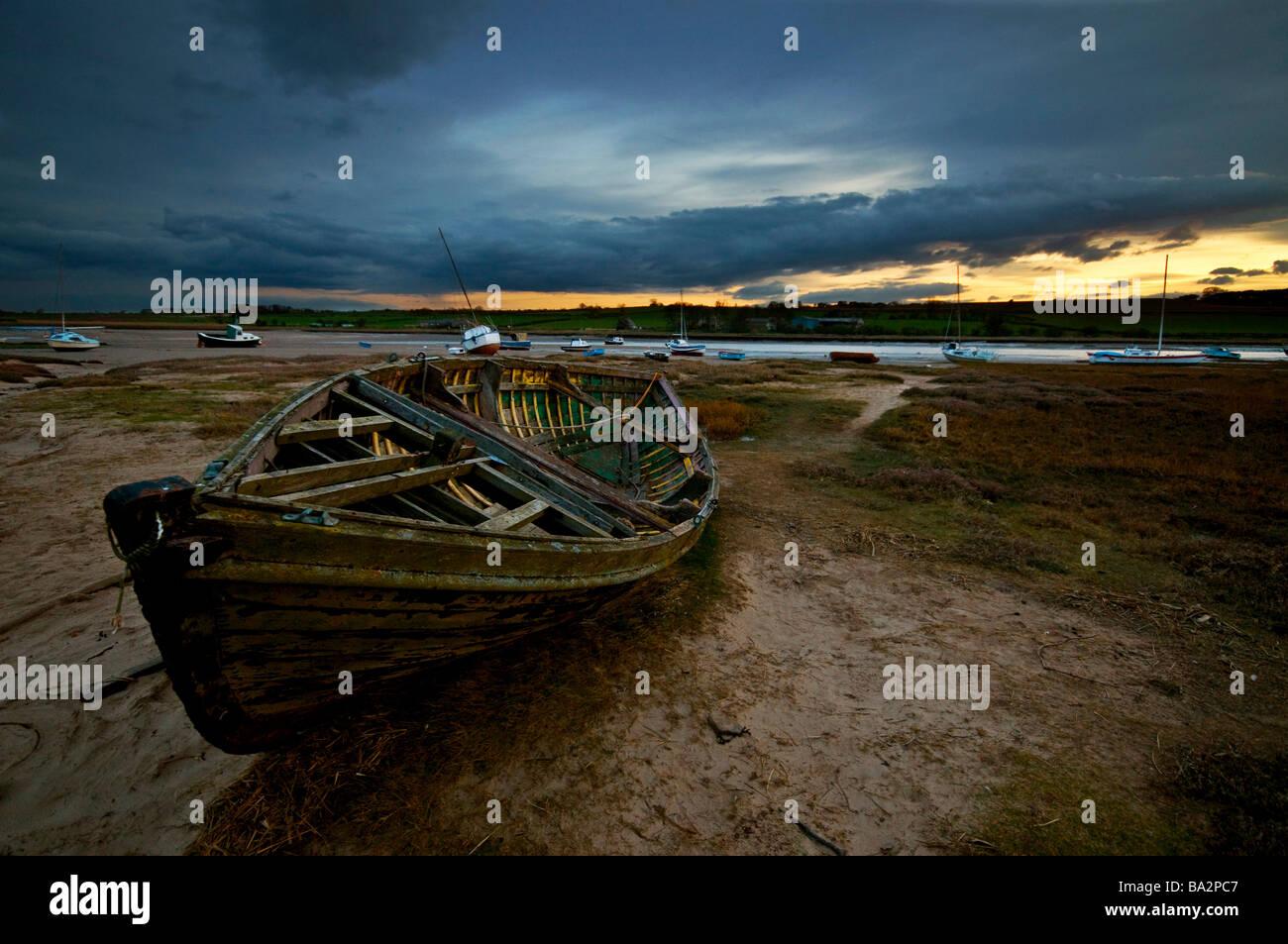 old fishing boat - Stock Image