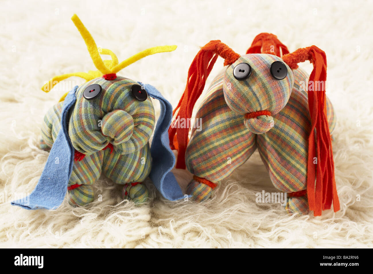 Handicraft Material Animals Toy Kuscheltiere Symbol Childhood Plays Wastes The Last Chance Colorfully Colored Man Made