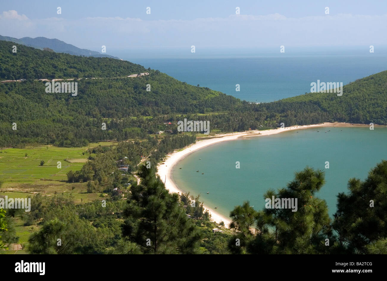 Leper colony village north of Da Nang along the South China Sea Vietnam - Stock Image