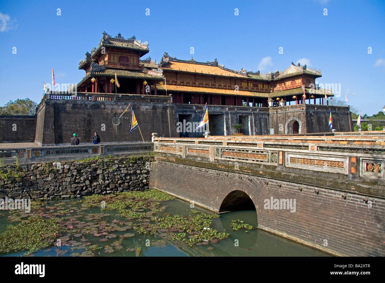 The Ngo Mon Gate at the entrance to the Imperial Citadel of Hue Vietnam - Stock Image