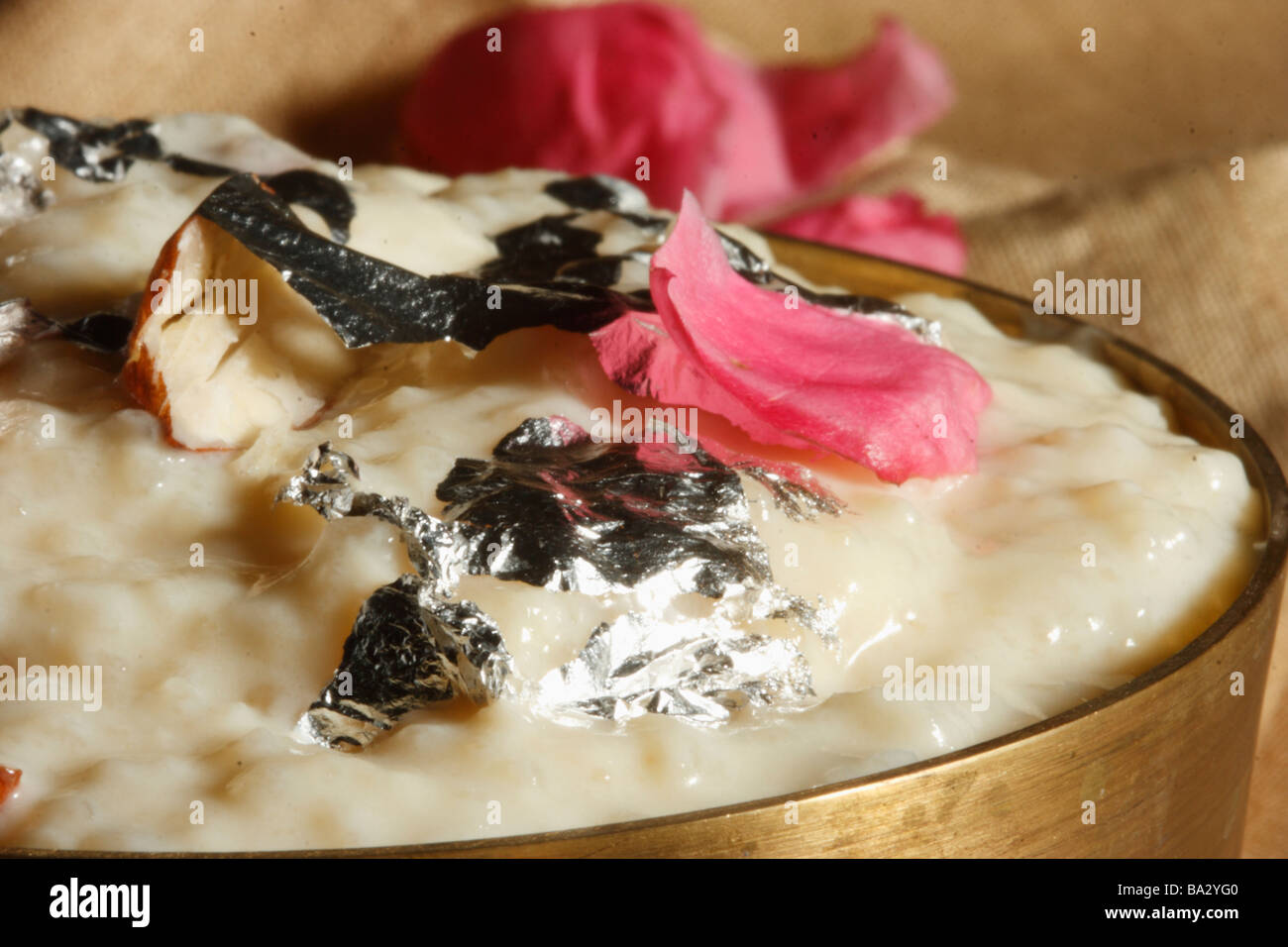 Firni is special variation of rice pudding which is from North India - Stock Image