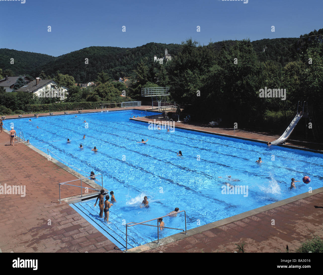 Germany nature reserve alto-mill-valley Kipfenberg free-bath swimmers no models release Bavaria bath-institution - Stock Image