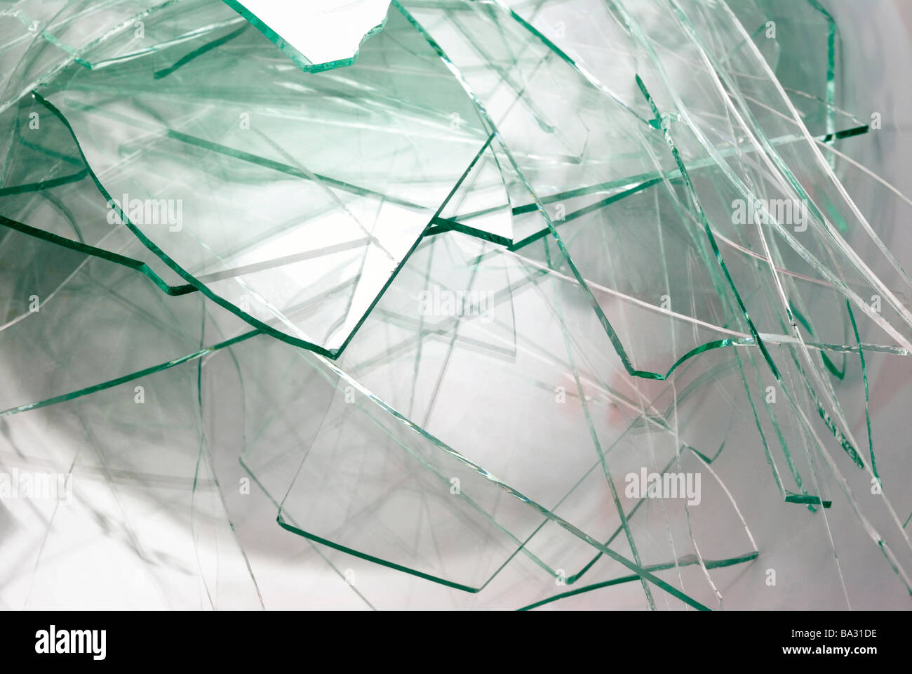 Shattered Glass - Stock Image