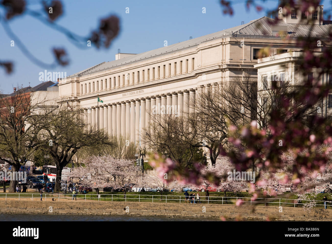 Bureau of Engraving and Printing Washington DC - Stock Image