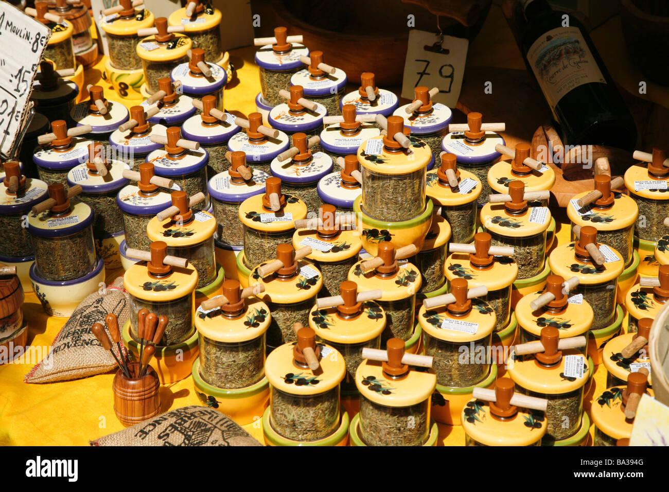 Herb de Provence for Sale in Saint Tropez - Stock Image
