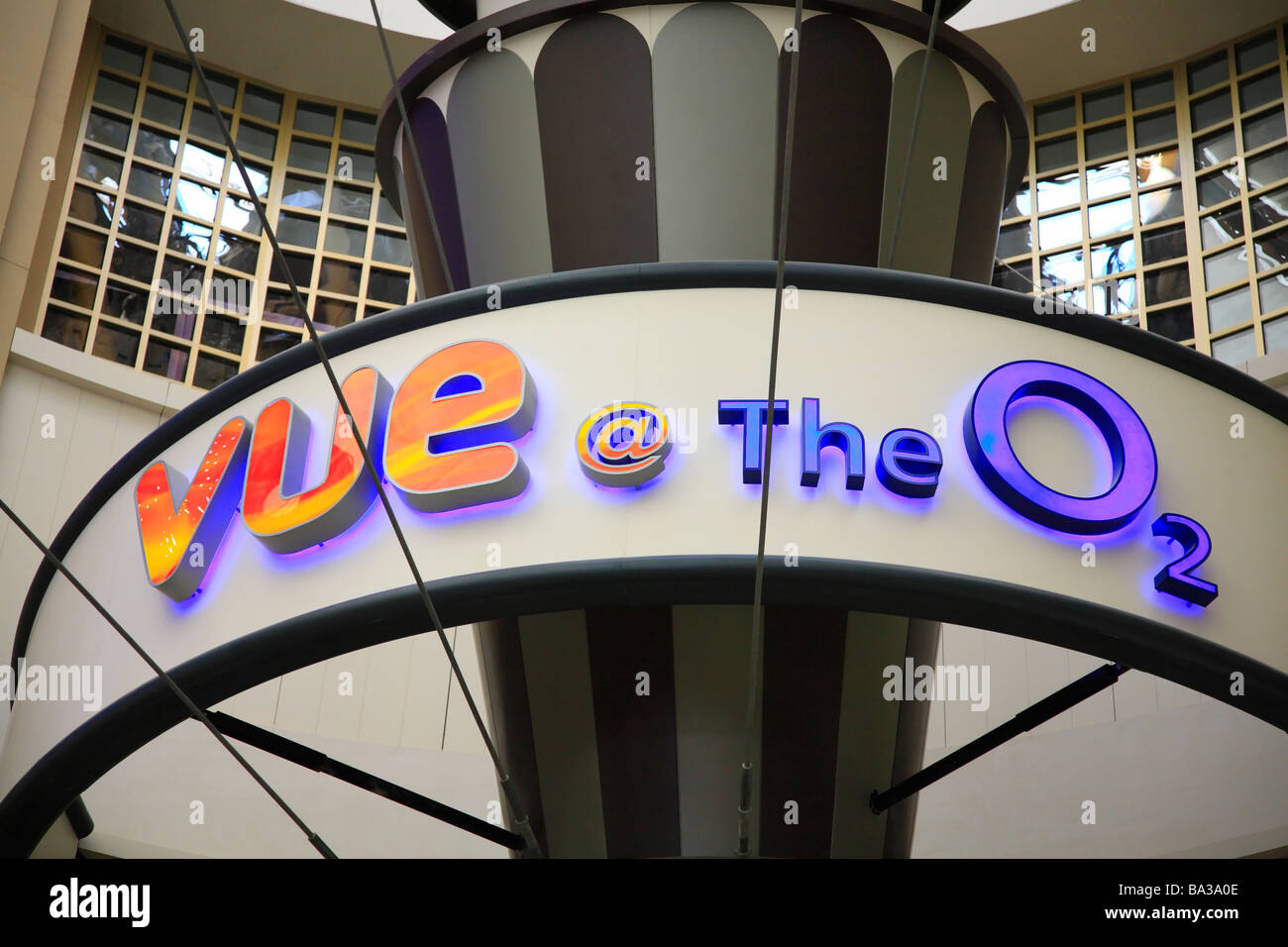 Vue at the O2, Greenwich, London. A Multiplex Cinema inside the Dome. - Stock Image