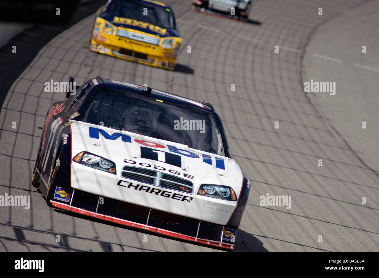 Sam Hornish Jr drives his Chevrolet Impala in the 3M Performance 400 at Michigan International Speedway, 2008. - Stock Image