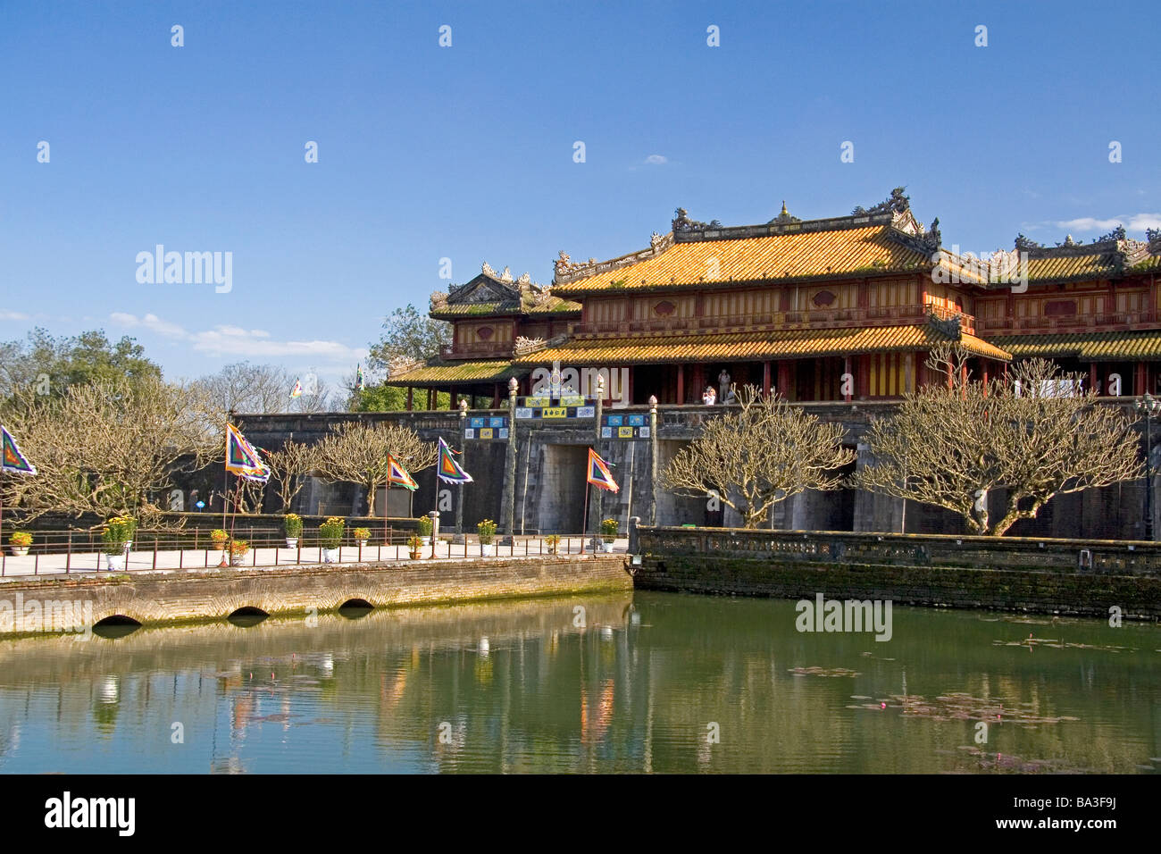 The Imperial Citadel of Hue Vietnam - Stock Image