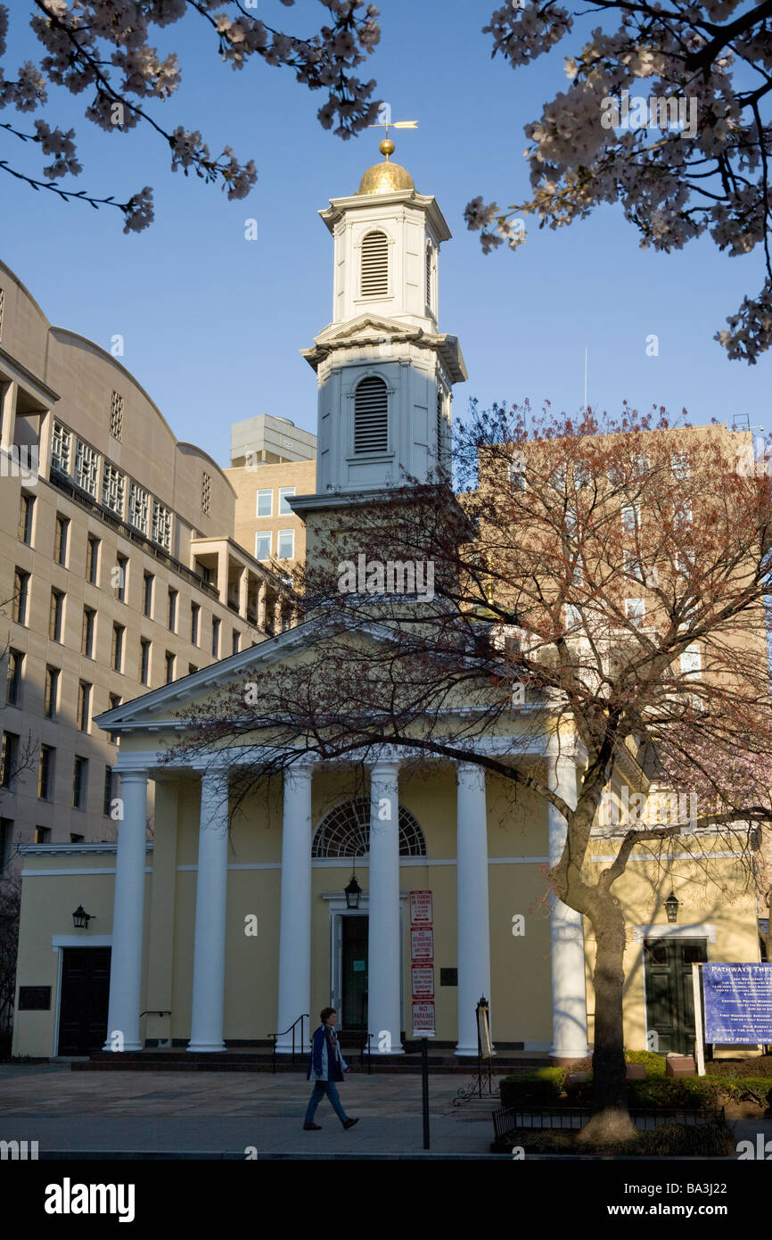 Saint Johns Episcopal Church Washington DC traditional service on inauguration day - Stock Image