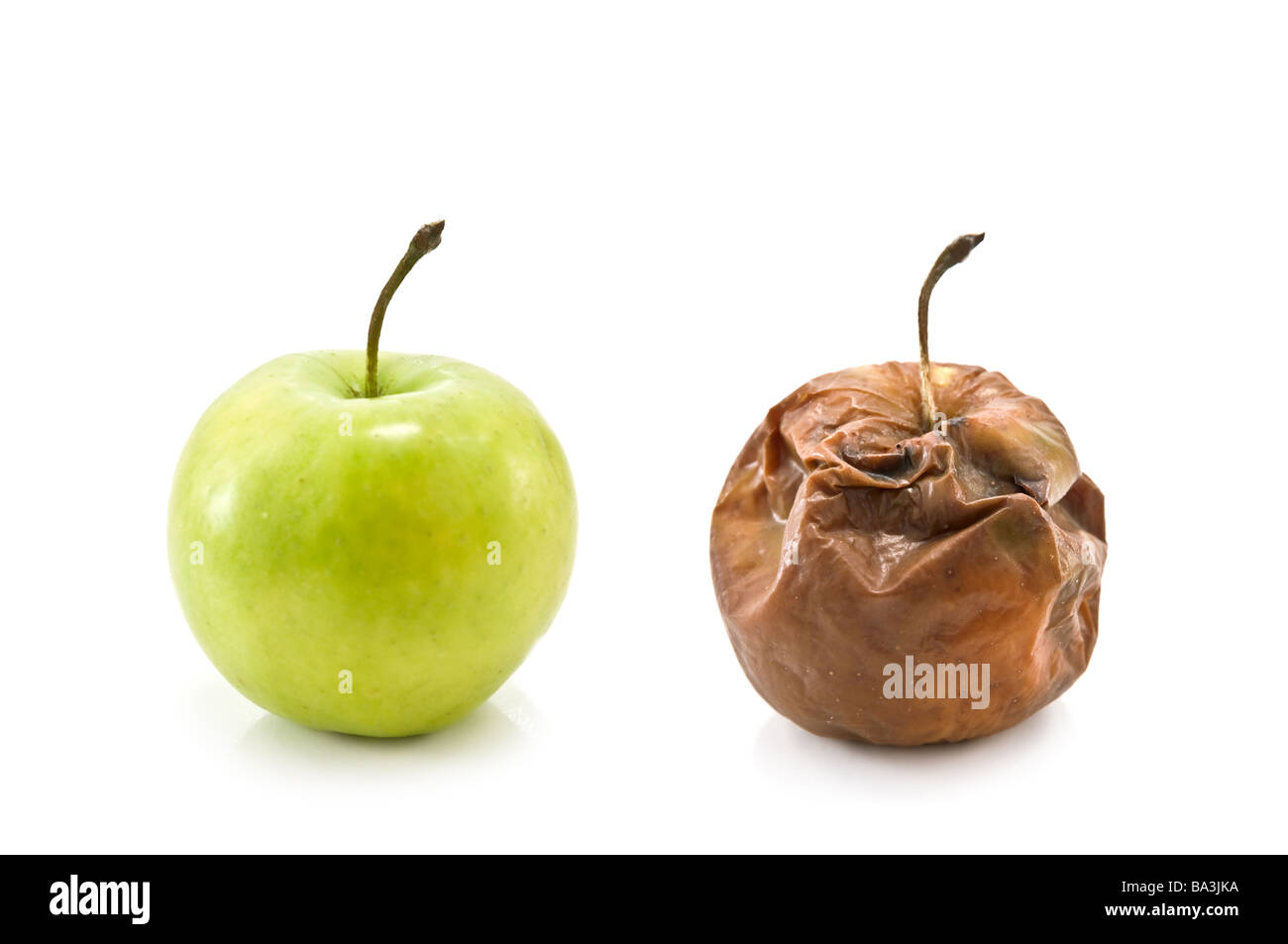 two apple isolated on white - Stock Image