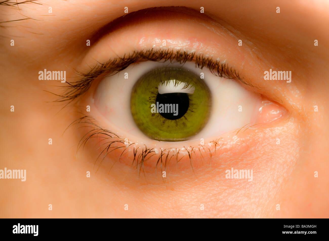 green eye - Stock Image