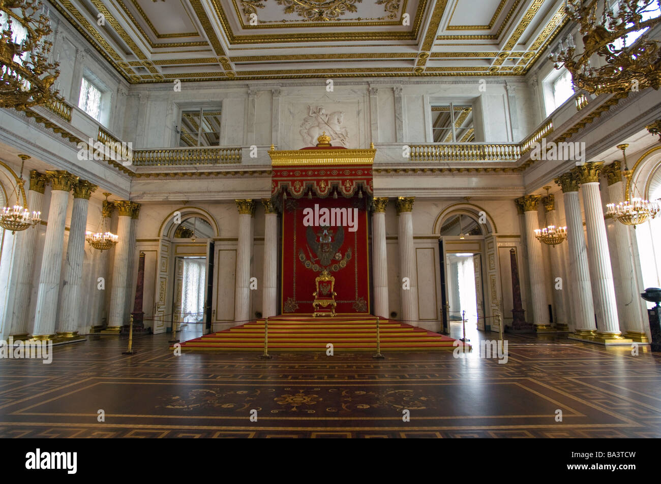 The Throne Room In The Winter Palace Saint Petersburg