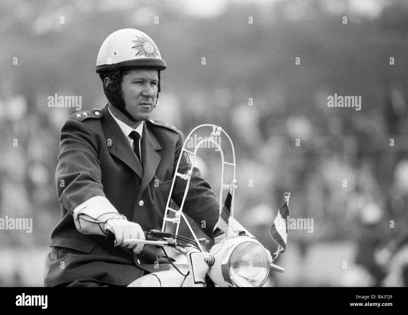 Sixties, black and white photo, event, 3rd International Police Sports and Music Festival 1966 in the Niederrhein - Stock Image