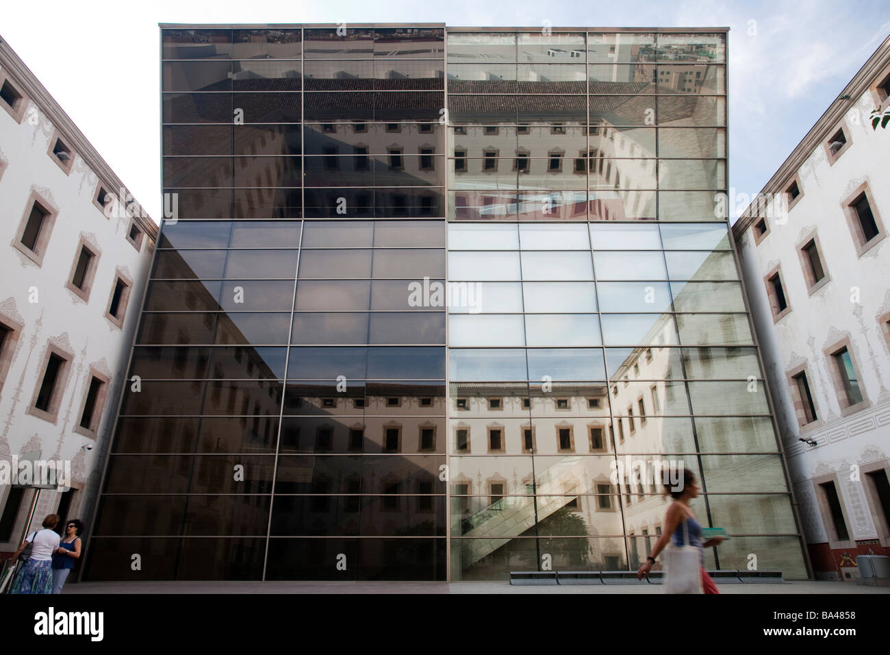 Yard of the Contemporary Culture Center town of Barcelona autonomous commnunity of Catalonia northeastern Spain - Stock Image
