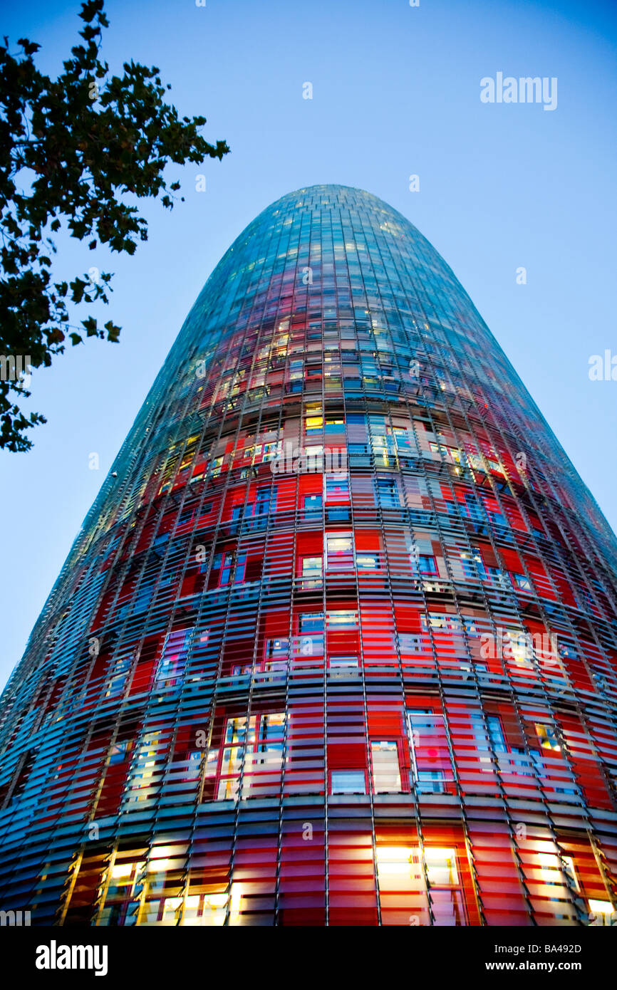 agbar tower work by jean nouvel town of barcelona autonomous stock