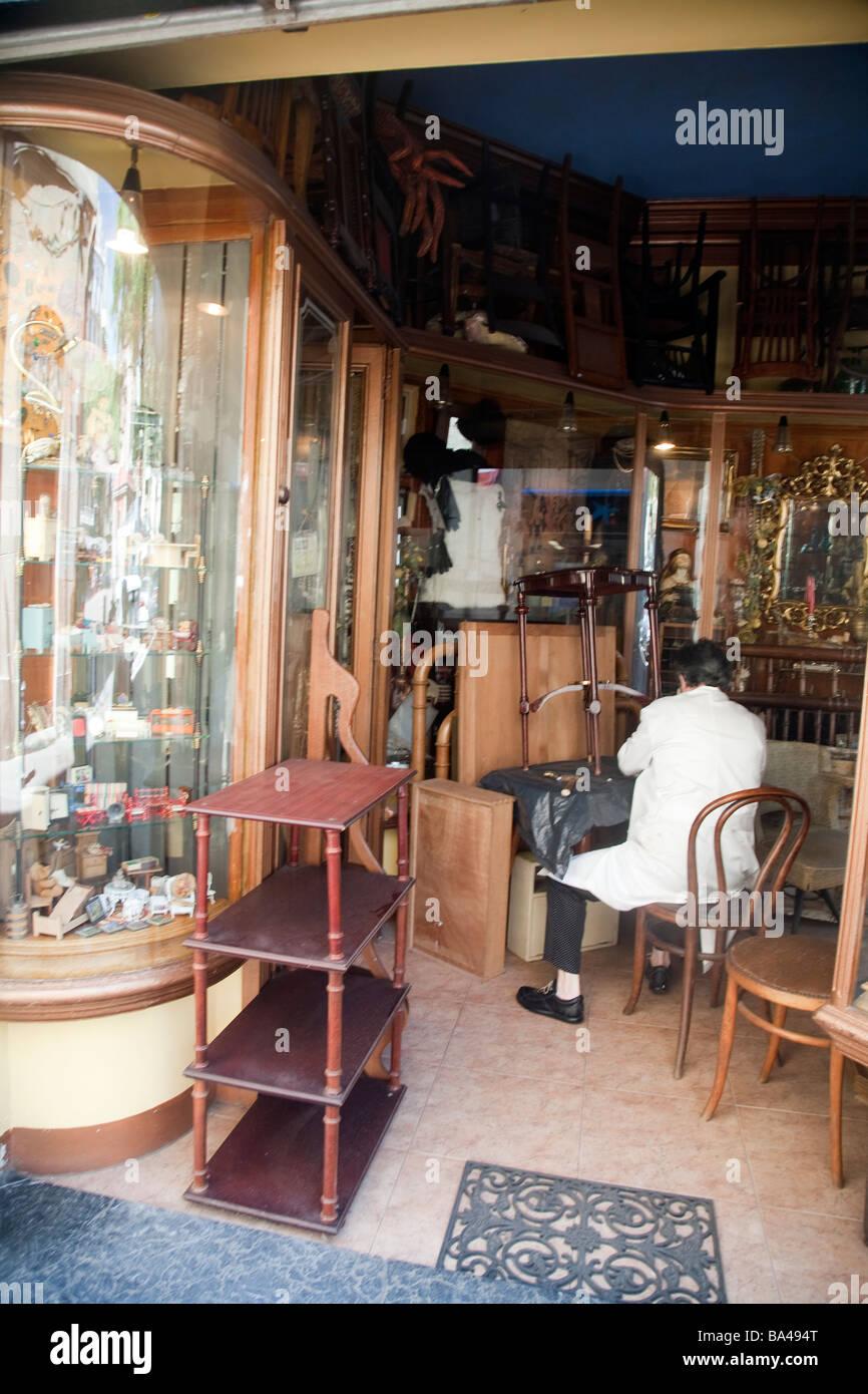 Second Hand Furniture Shop Gracia Quarter Town Of Barcelona Autonomous  Commnunity Of Catalonia Northeastern Spain