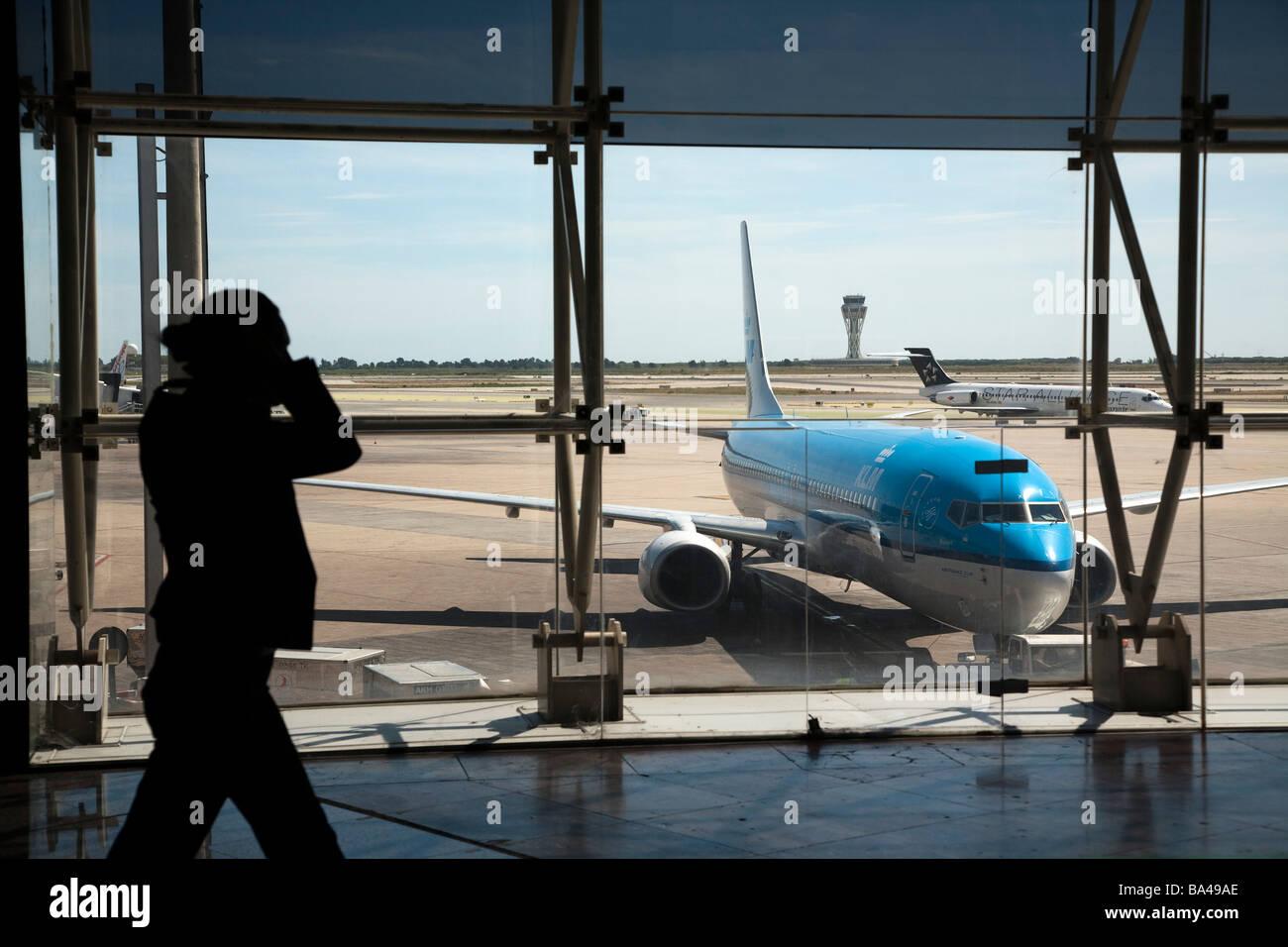 El Prat de Llobregat airport Barcelona Spain - Stock Image