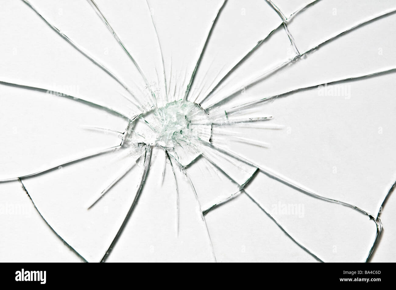 broken glass closeup - Stock Image