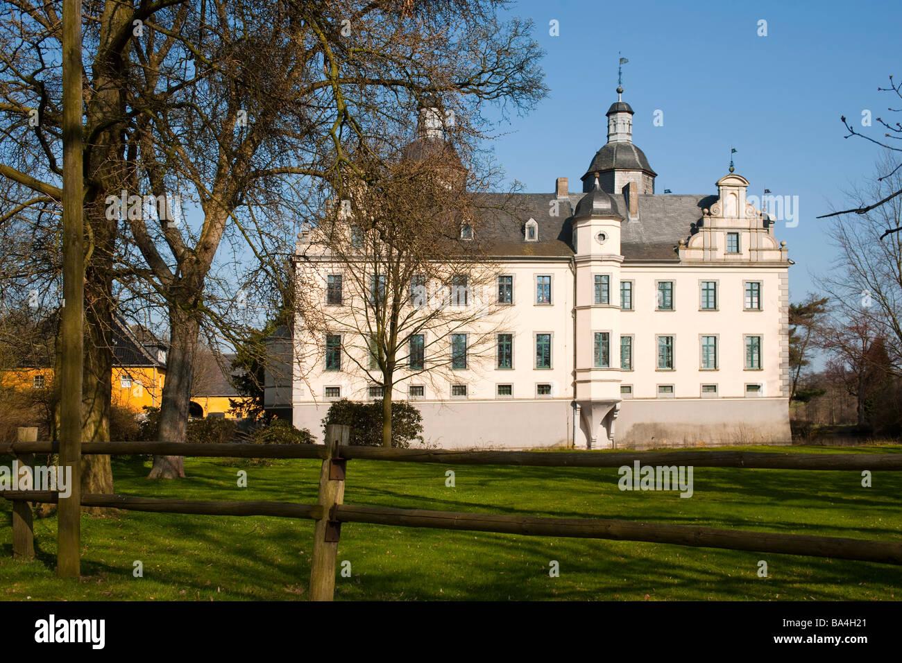 Deutschland Nordrhein Westfalen Rhein Sieg Kreis Gemeinde Swisttal Burg Kriegshofen bei Heimerzheim Stock Photo