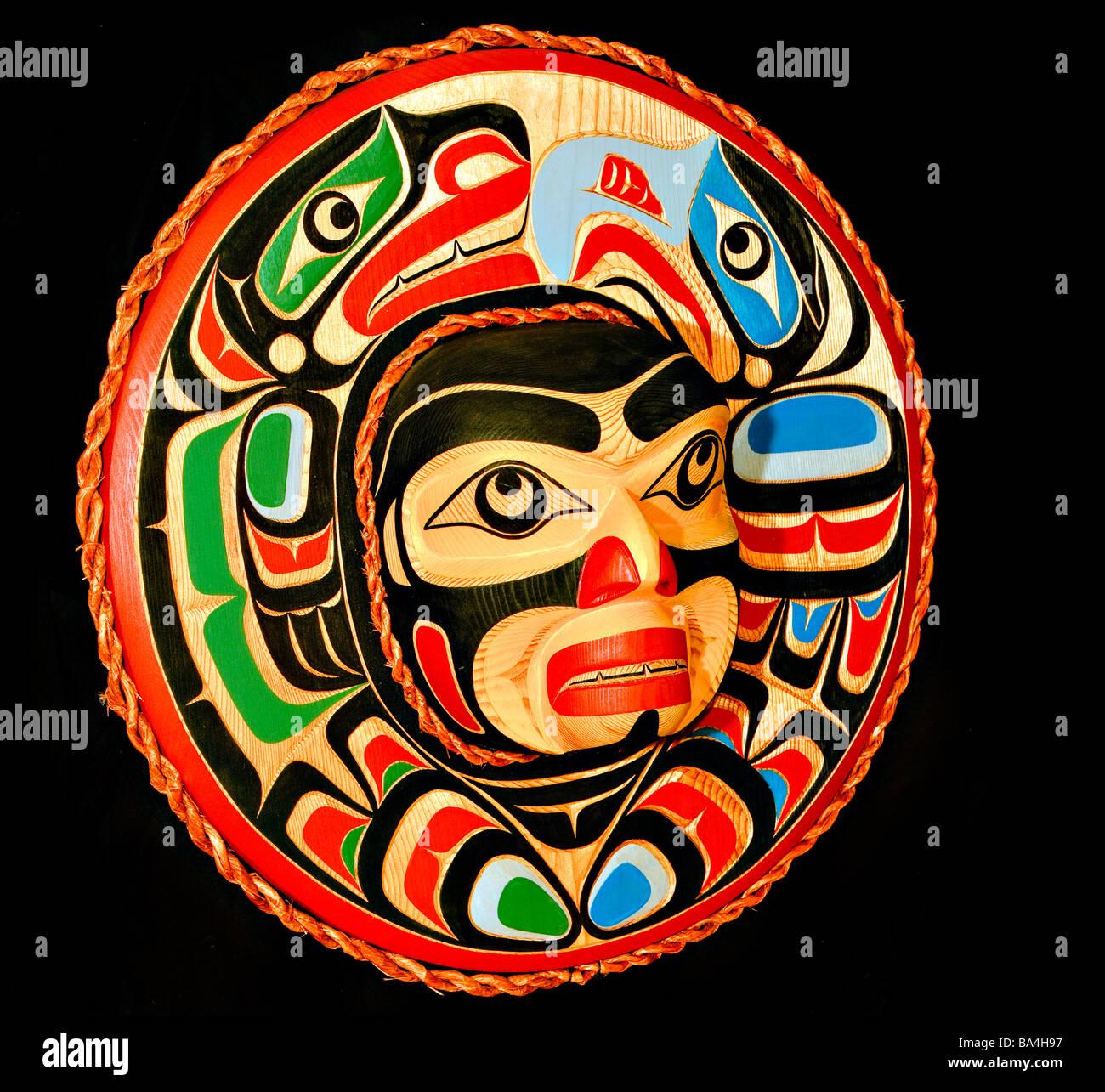 Original West coast native Art - Stock Image