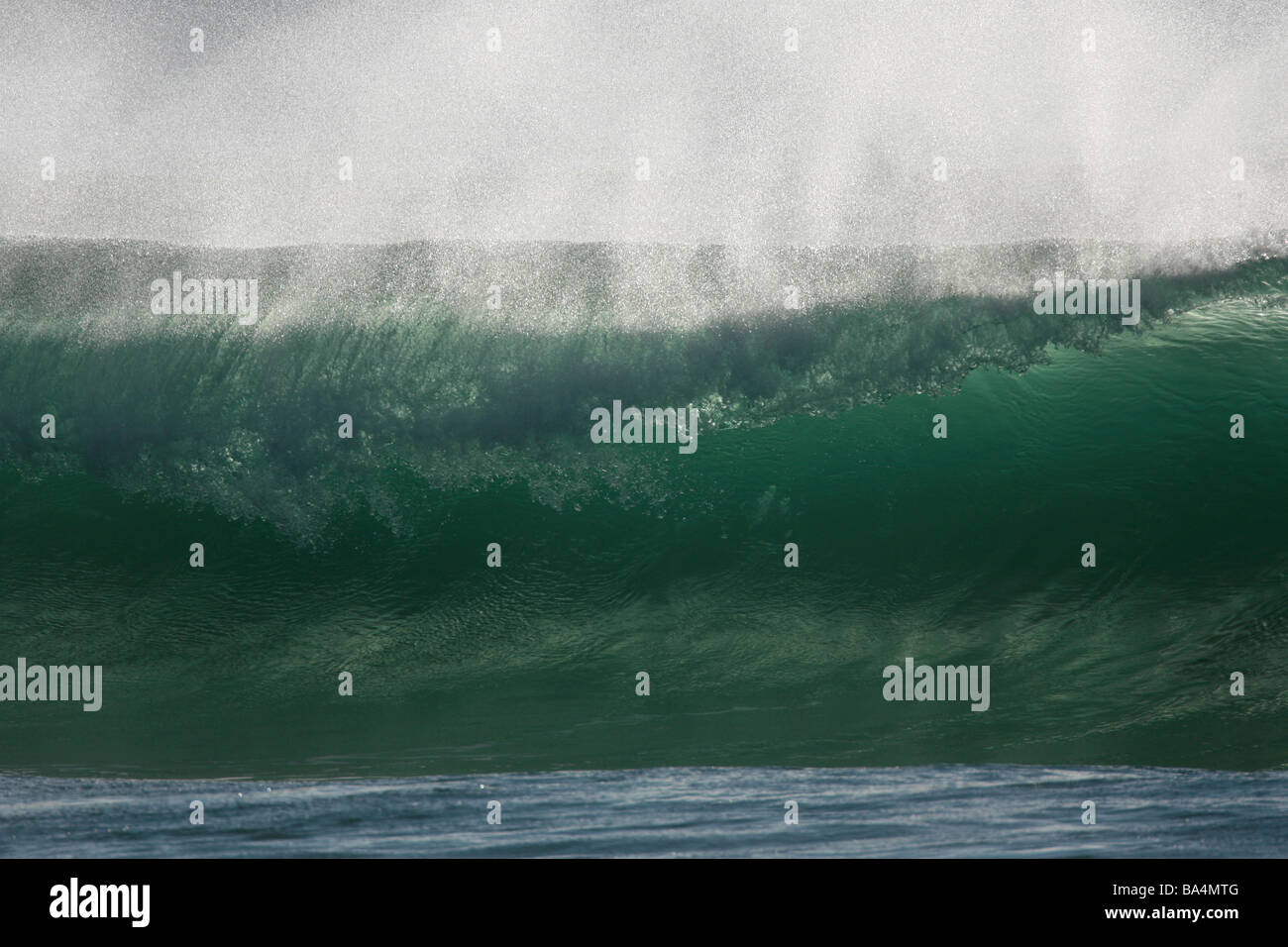 A Breaking Wave. - Stock Image