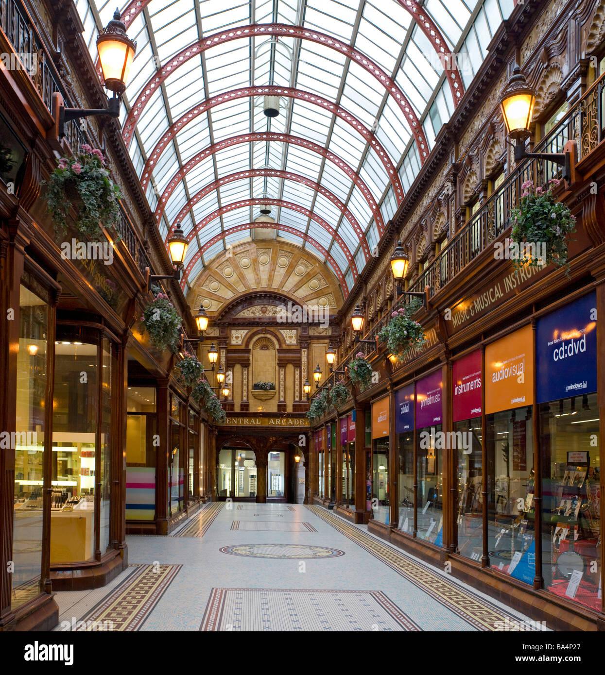 Central arcade shopping centre, Newcastle, Gateshead, England. - Stock Image