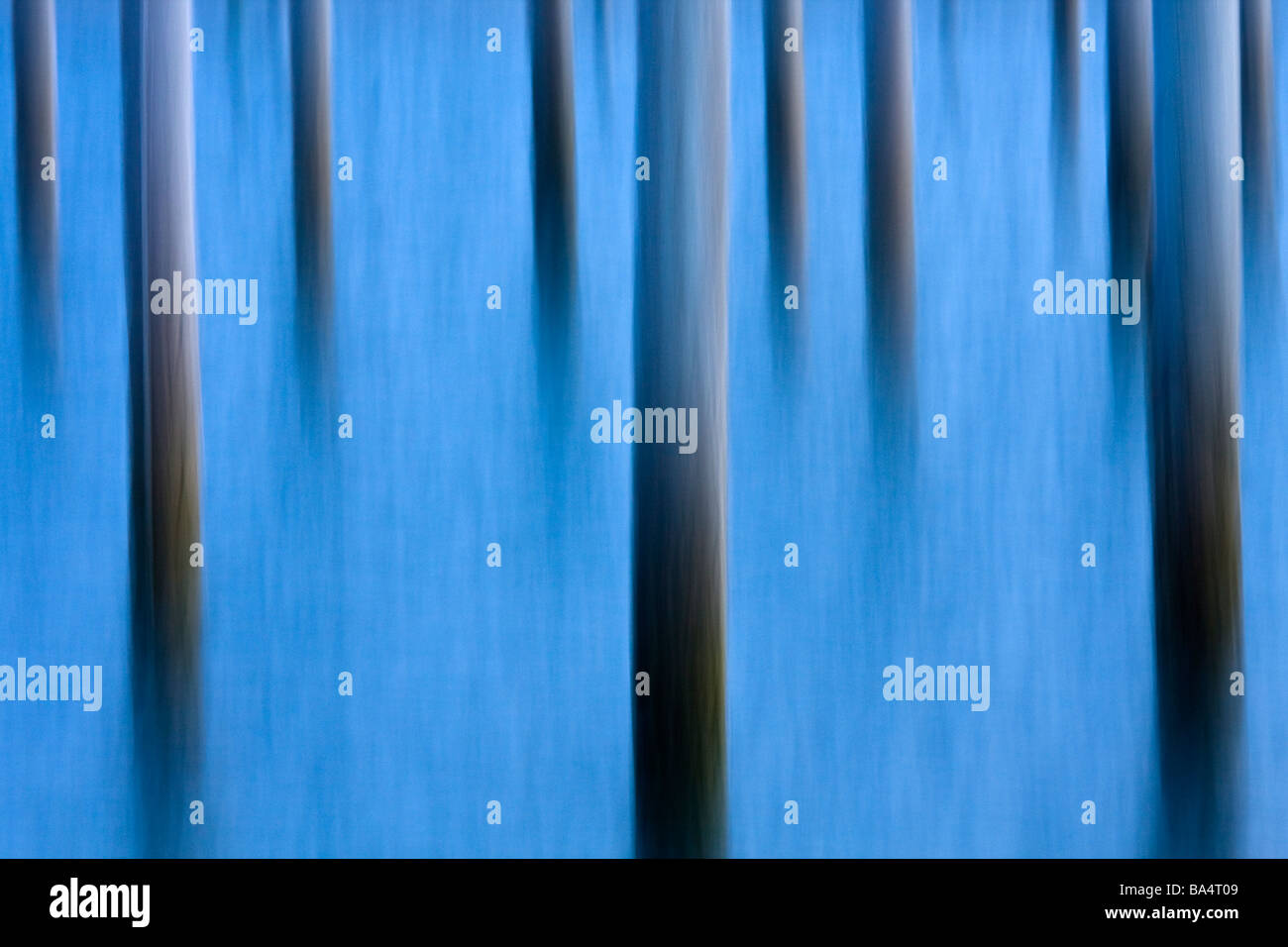 Abstract image of piers in water - Stock Image