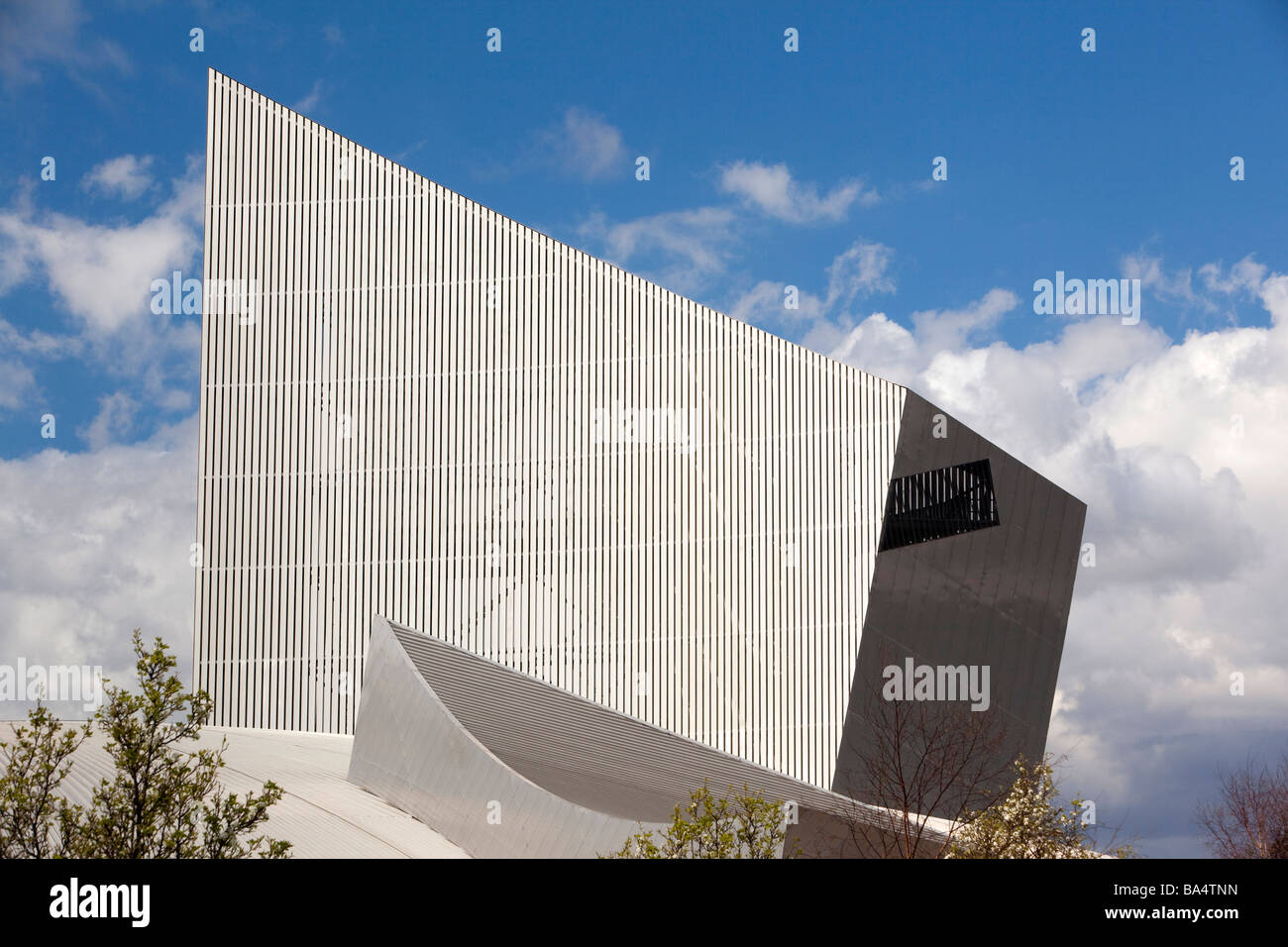 UK England Salford Quays Imperial War Museum north by Architect Daniel Libeskind - Stock Image