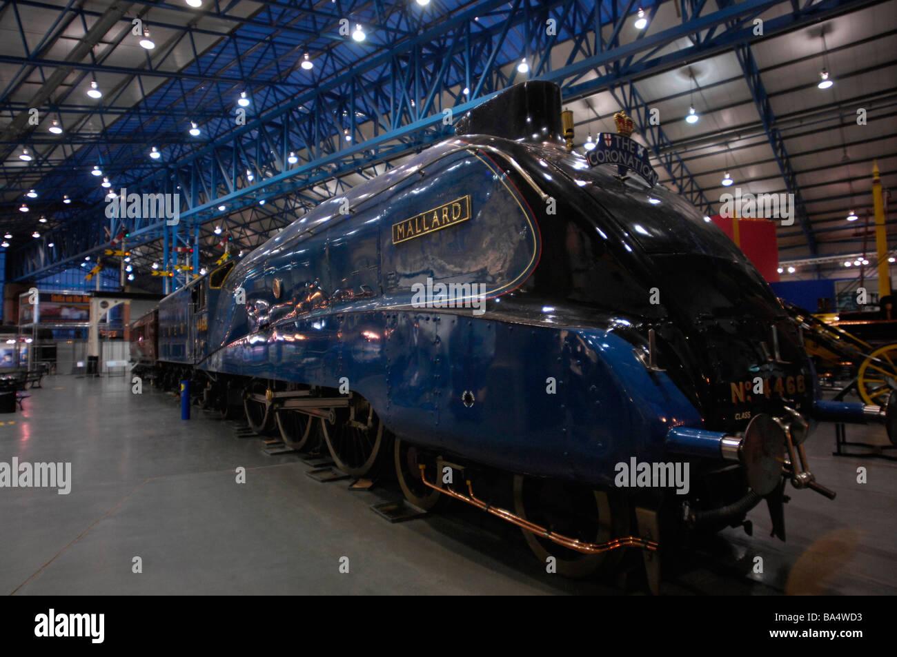 Mallard, the LNER steam train, at the National Railway museum, York - Stock Image