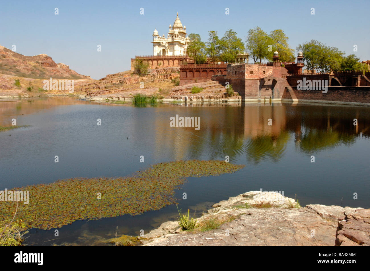 The memorial of the former rulers of Mewar the Jaswant Thada - Stock Image
