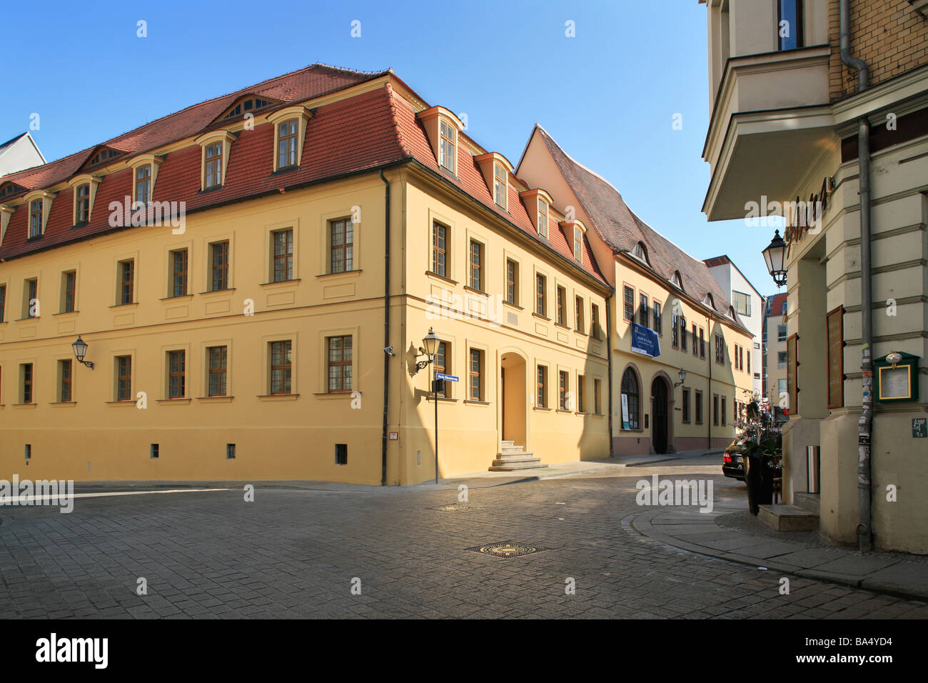 Händel museum and house of Händel's birth in Halle (Saale), Germany - Stock Image