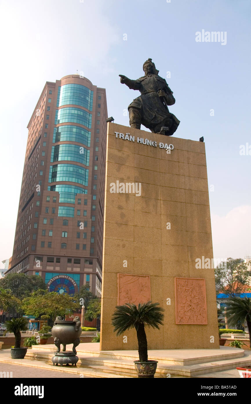 Statue of Tran Hung Dao in Ho Chi Minh City Vietnam - Stock Image