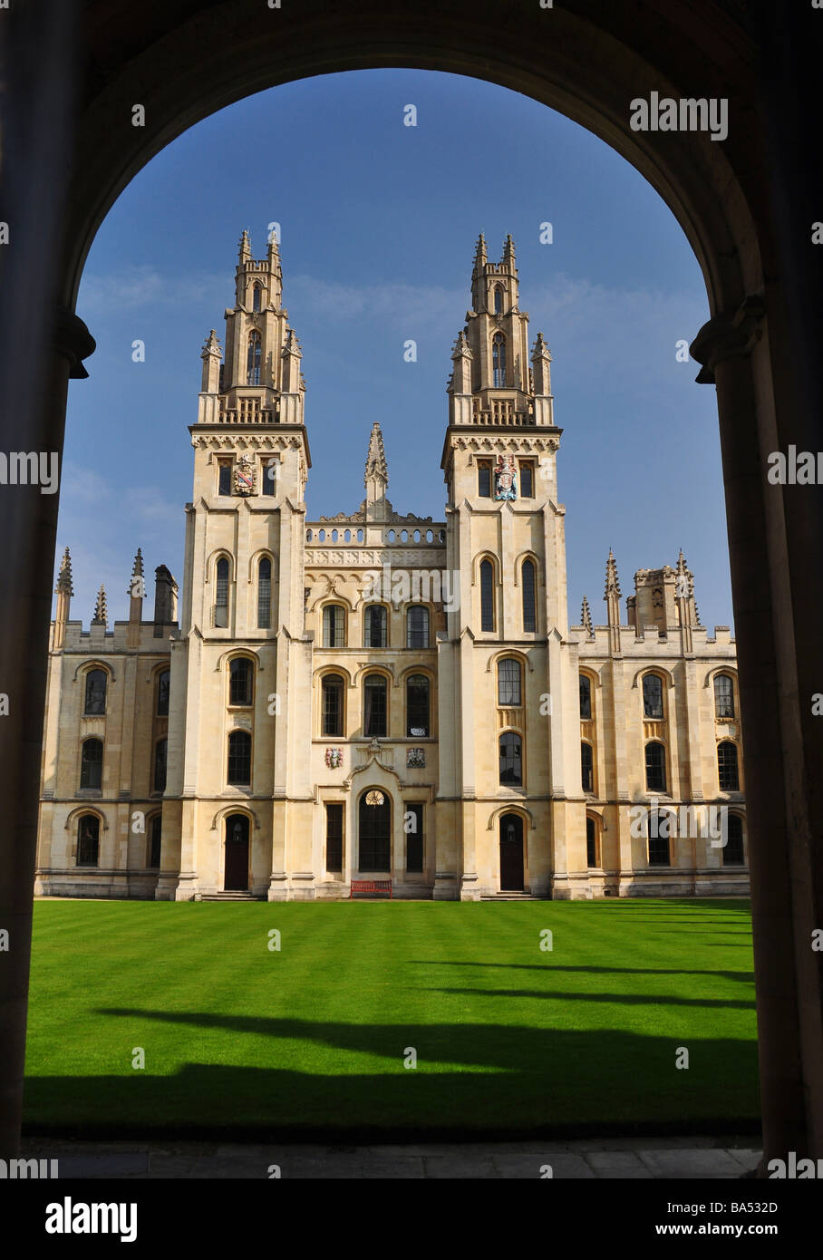 North Quad of All Souls College, Oxford - Stock Image