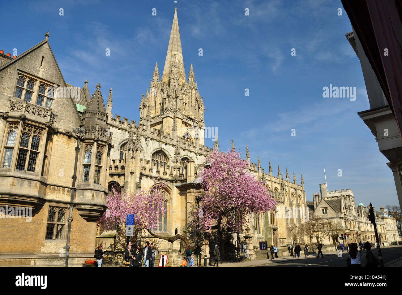 University Church of St. Mary The Virgin, Oxford - Stock Image