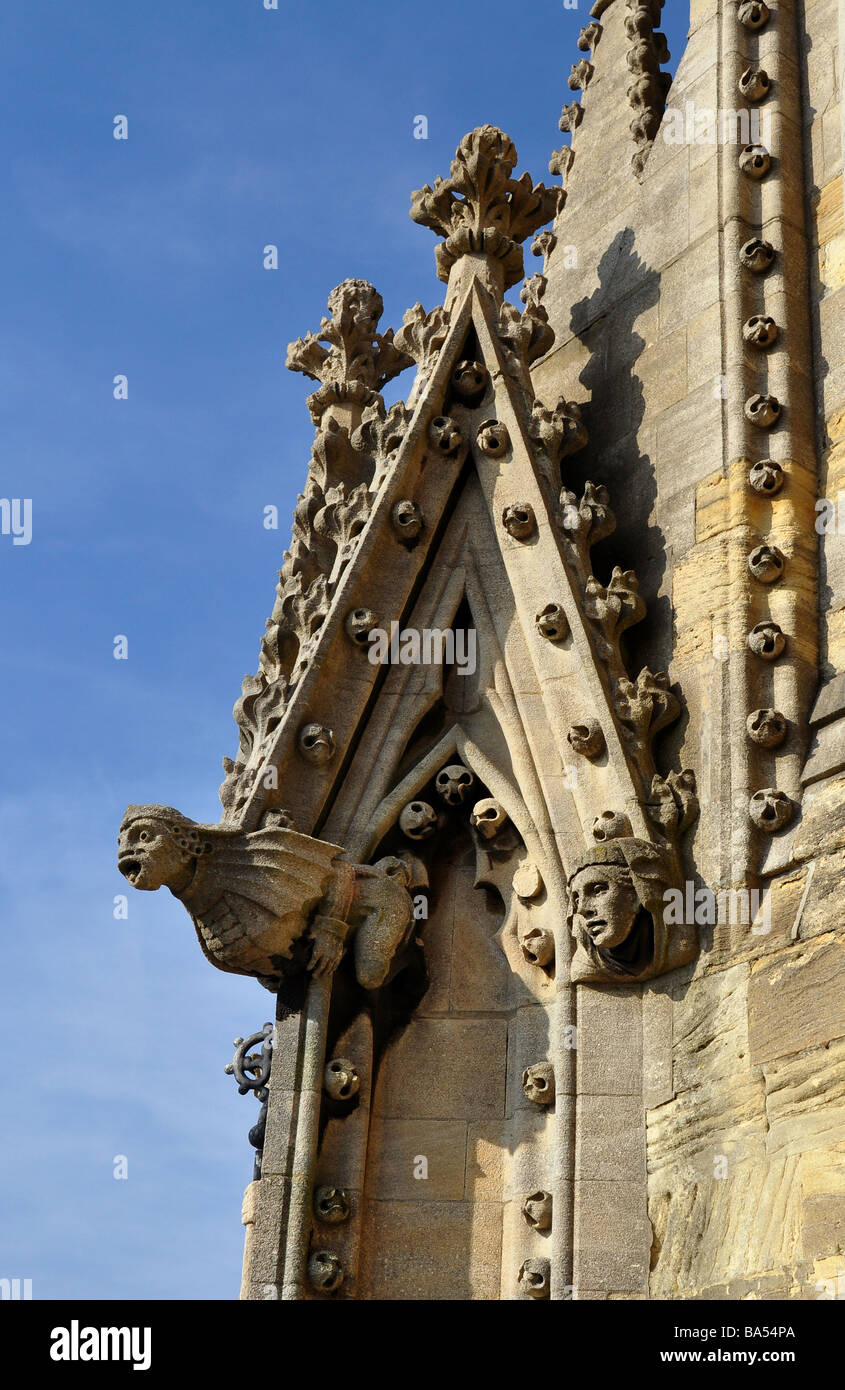Detail of gargoyle and water spout, University Church of St. Mary The Virgin, Oxford - Stock Image