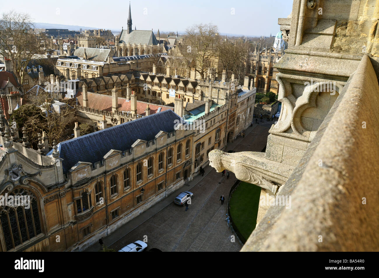 Brasenose College Oxford from St. Mary's Tower - Stock Image