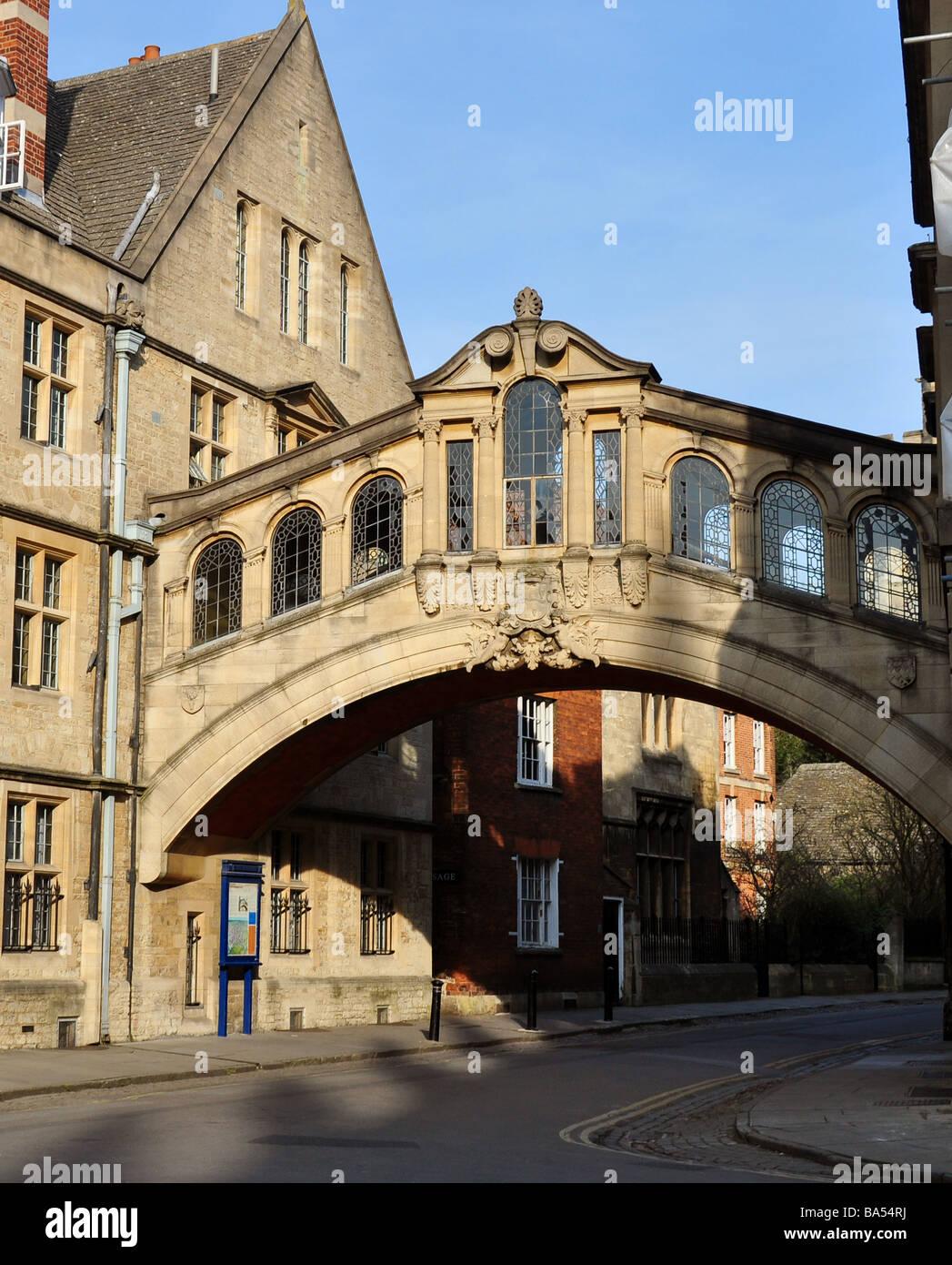 Bridge of Sighs, New Street, Oxford - Stock Image