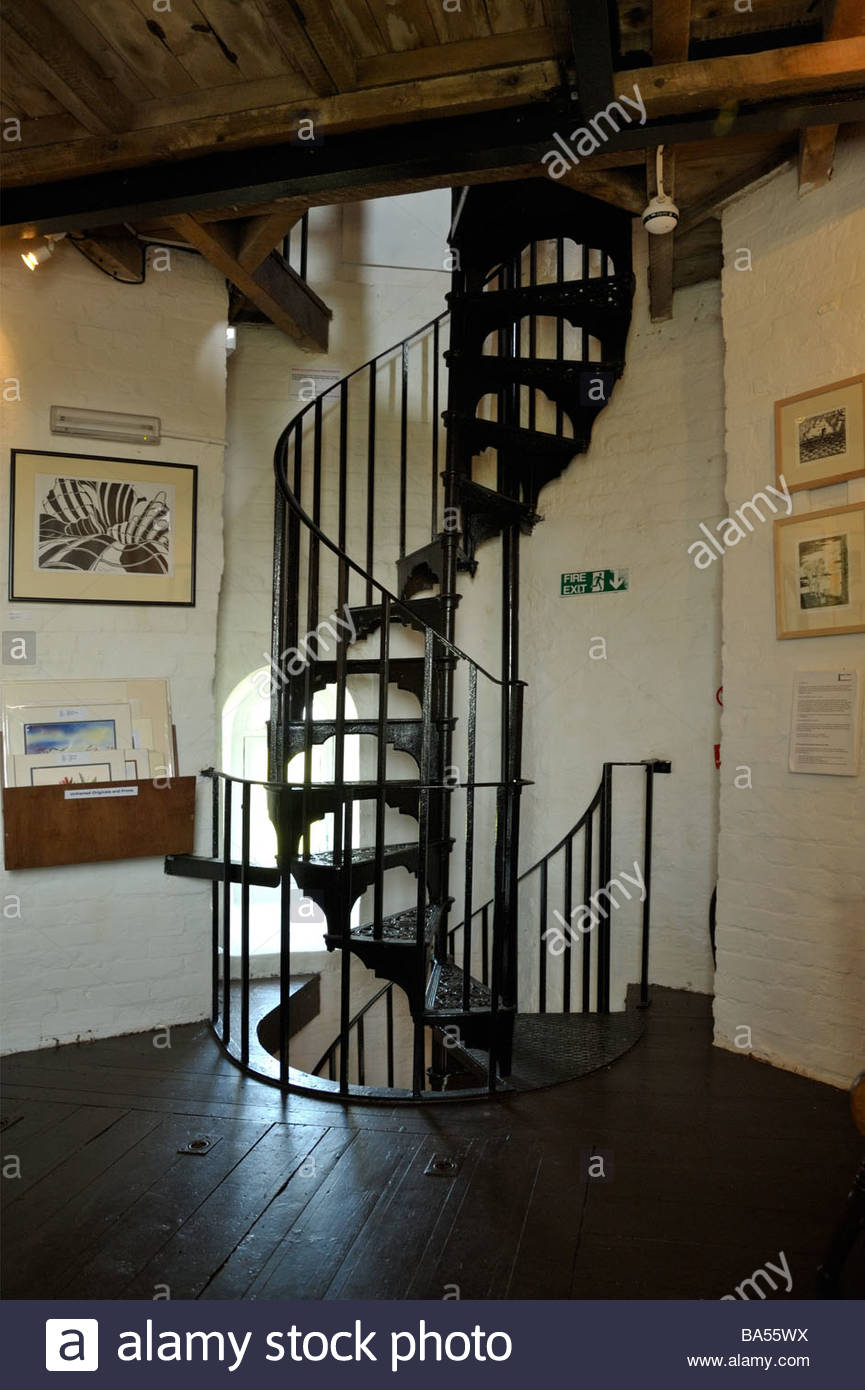 Spiral Wrought Iron Staircase Inside Naze Tower