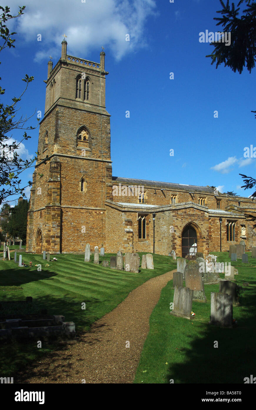 The church of St Mary Magdalene in Ecton, Northamptonshire - Stock Image