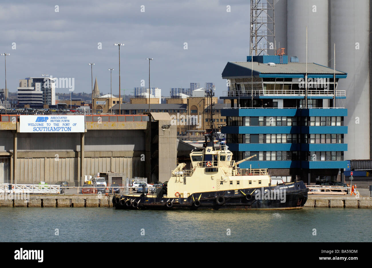 Port of Southampton southern England UK ABP waterfront building Associated British Ports - Stock Image