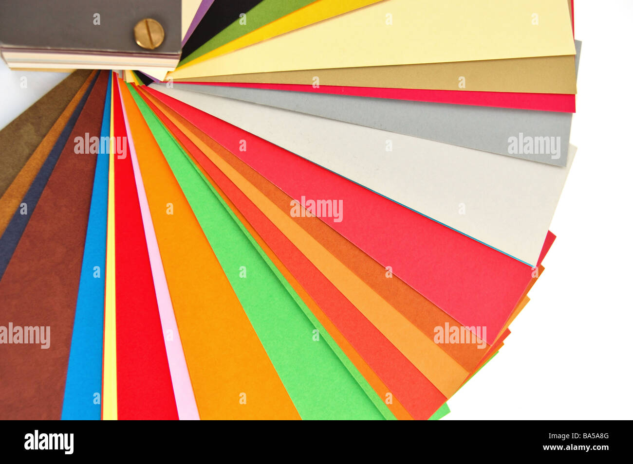 Paper Color Chart Background Different Weights And Colors Of Stock