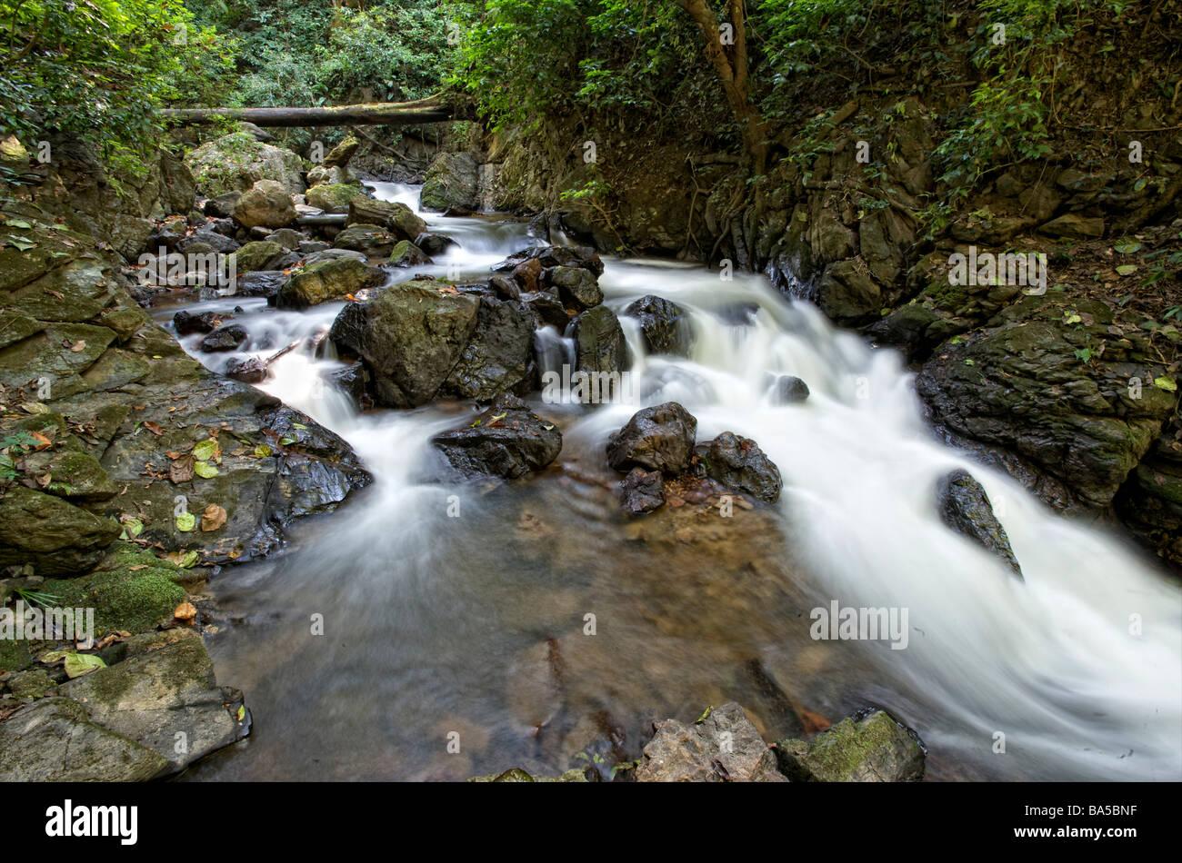 The Mae Surin waterfall at the Mae Surin National Park in Mae Hong Son Thailand - Stock Image