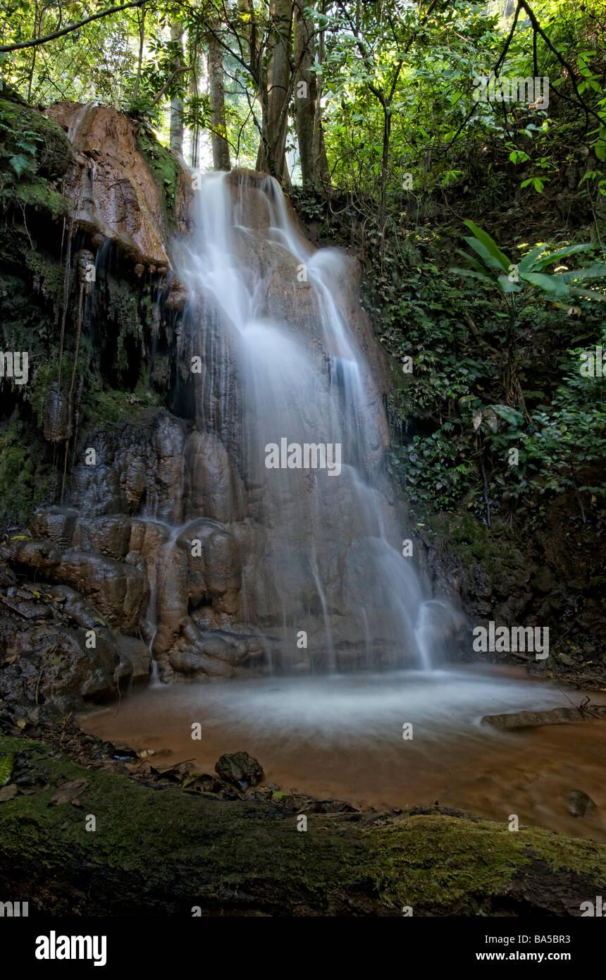 Mae Sawan Noi Waterfall located in Mae Hoh, Thailand - Stock Image